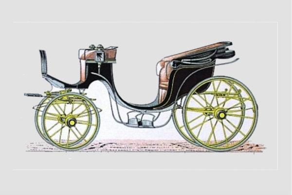 Dibujo carruaje historico