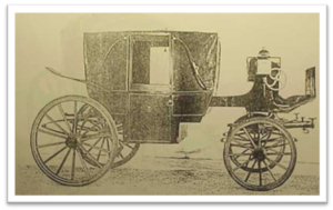 Restoration Landau Carriage. Old photo